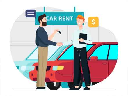 Car Rent Vector Illustration