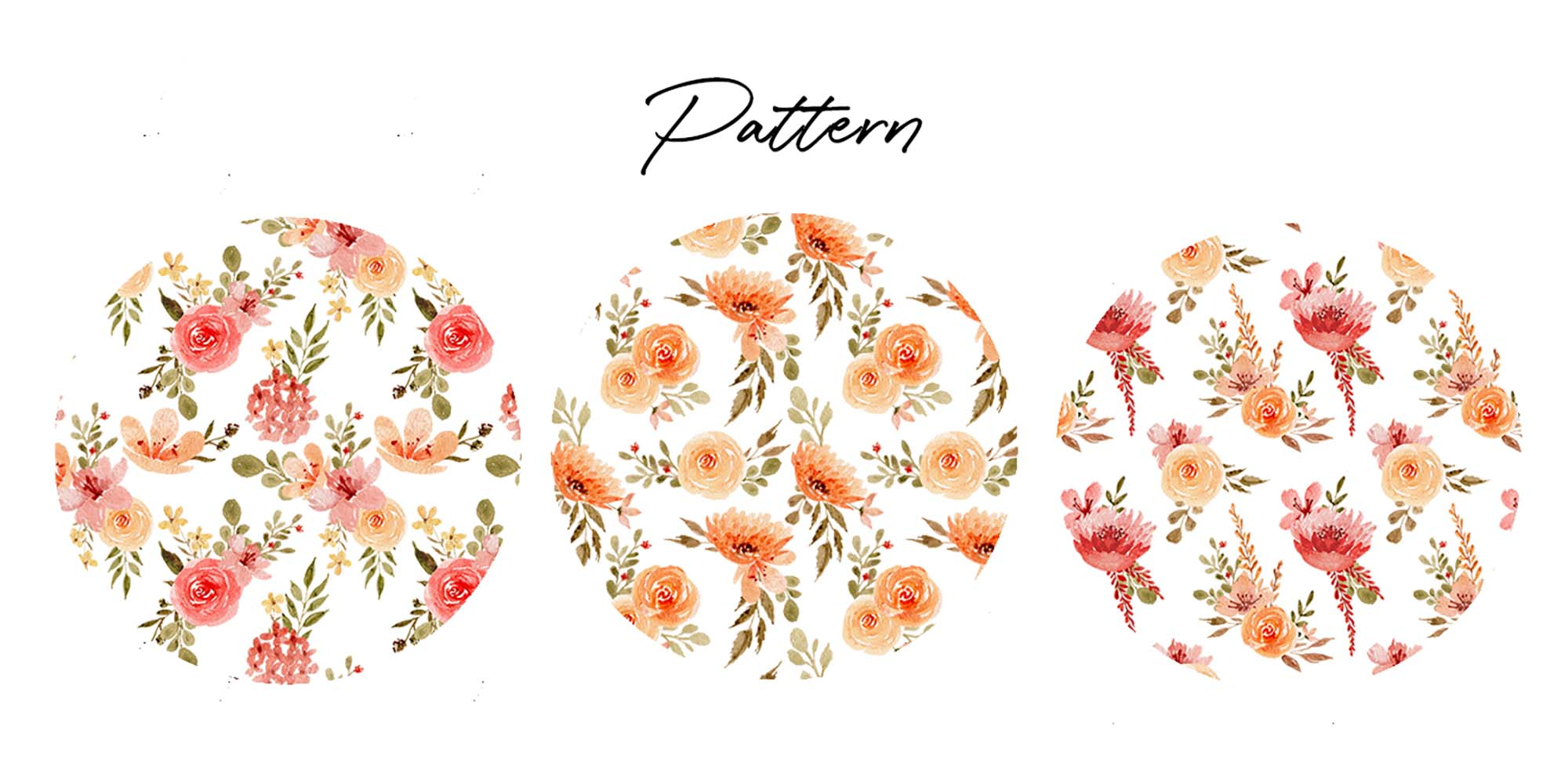 Delicate Orange Hand Painted Watercolor Clipart 5