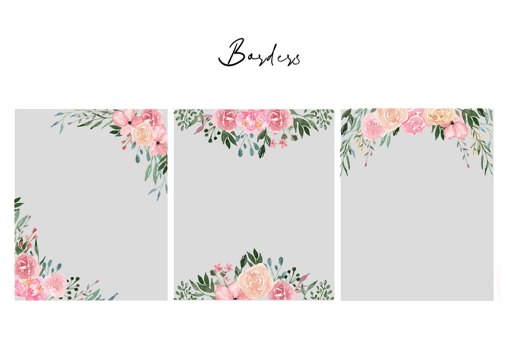 Dusty Blooms Watercolor Graphic Illustrations 1
