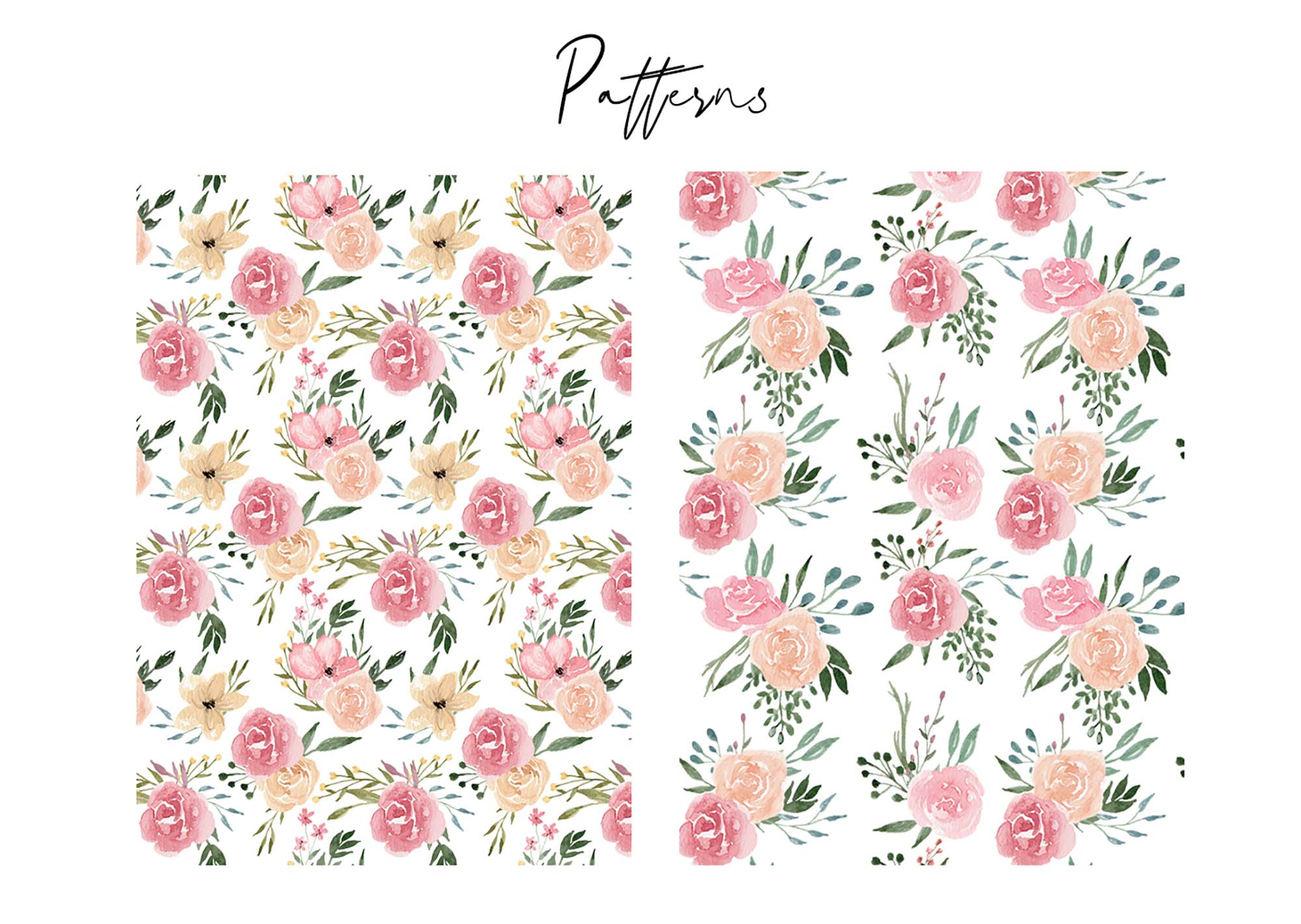 Dusty Blooms Watercolor Graphic Illustrations 2