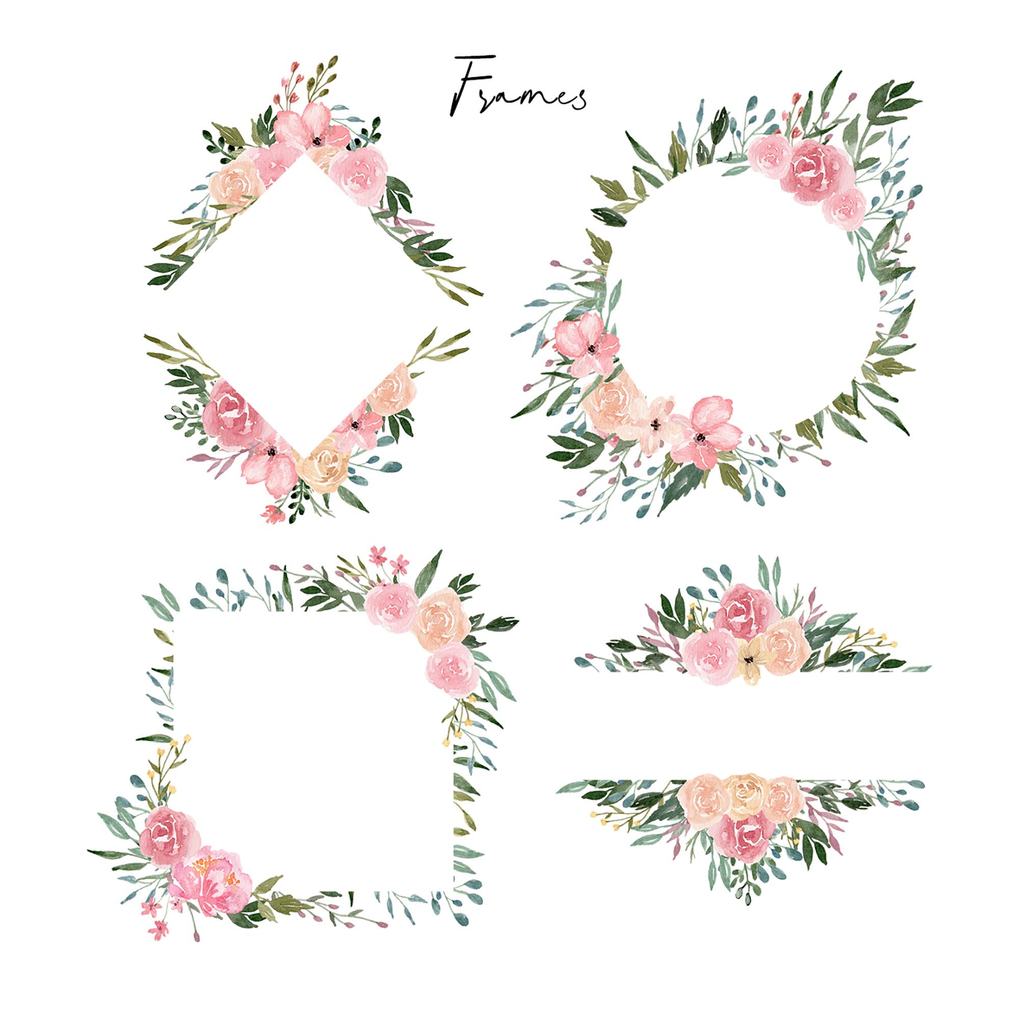 Dusty Blooms Watercolor Graphic Illustrations 3