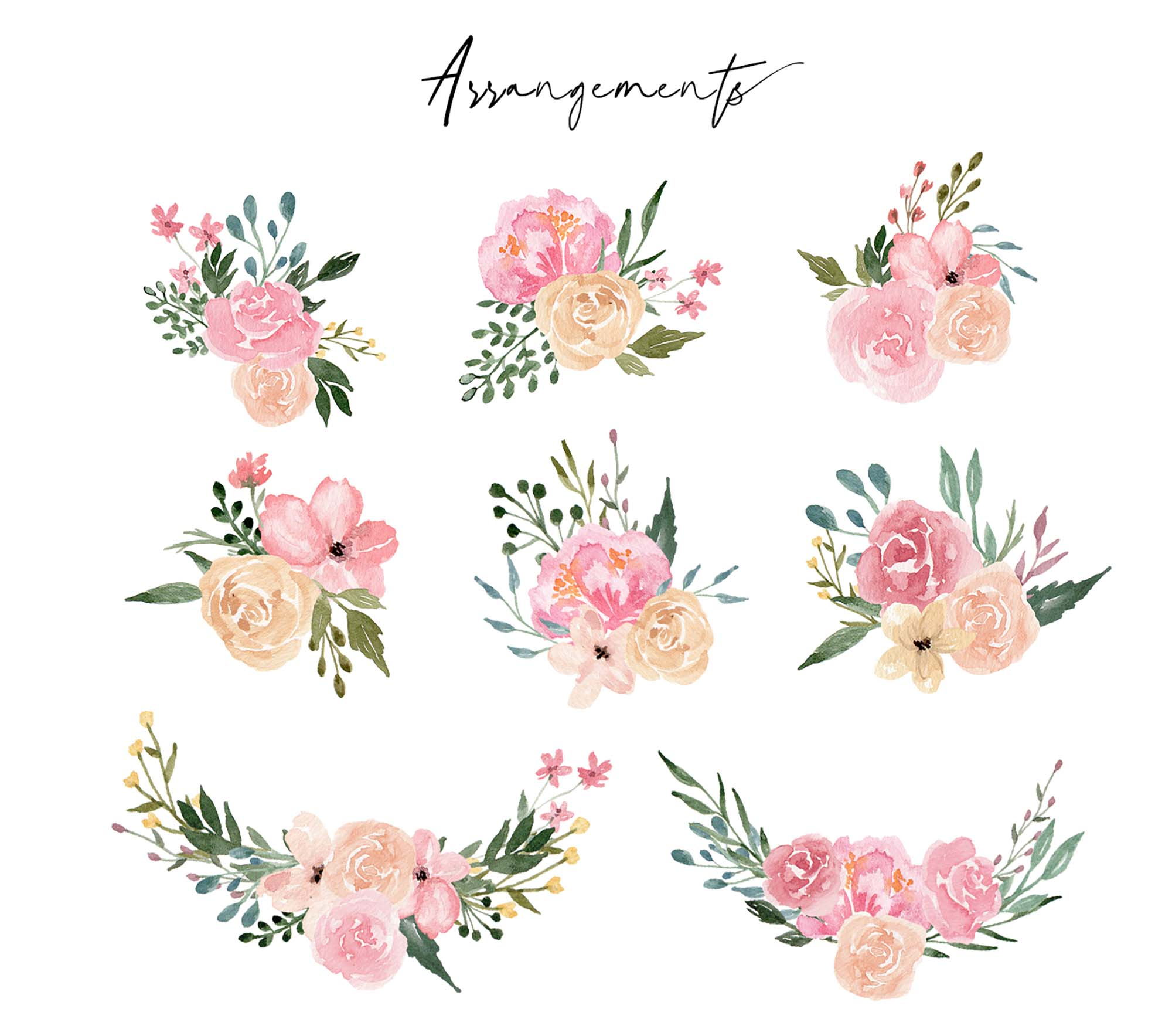 Dusty Blooms Watercolor Graphic Illustrations 5