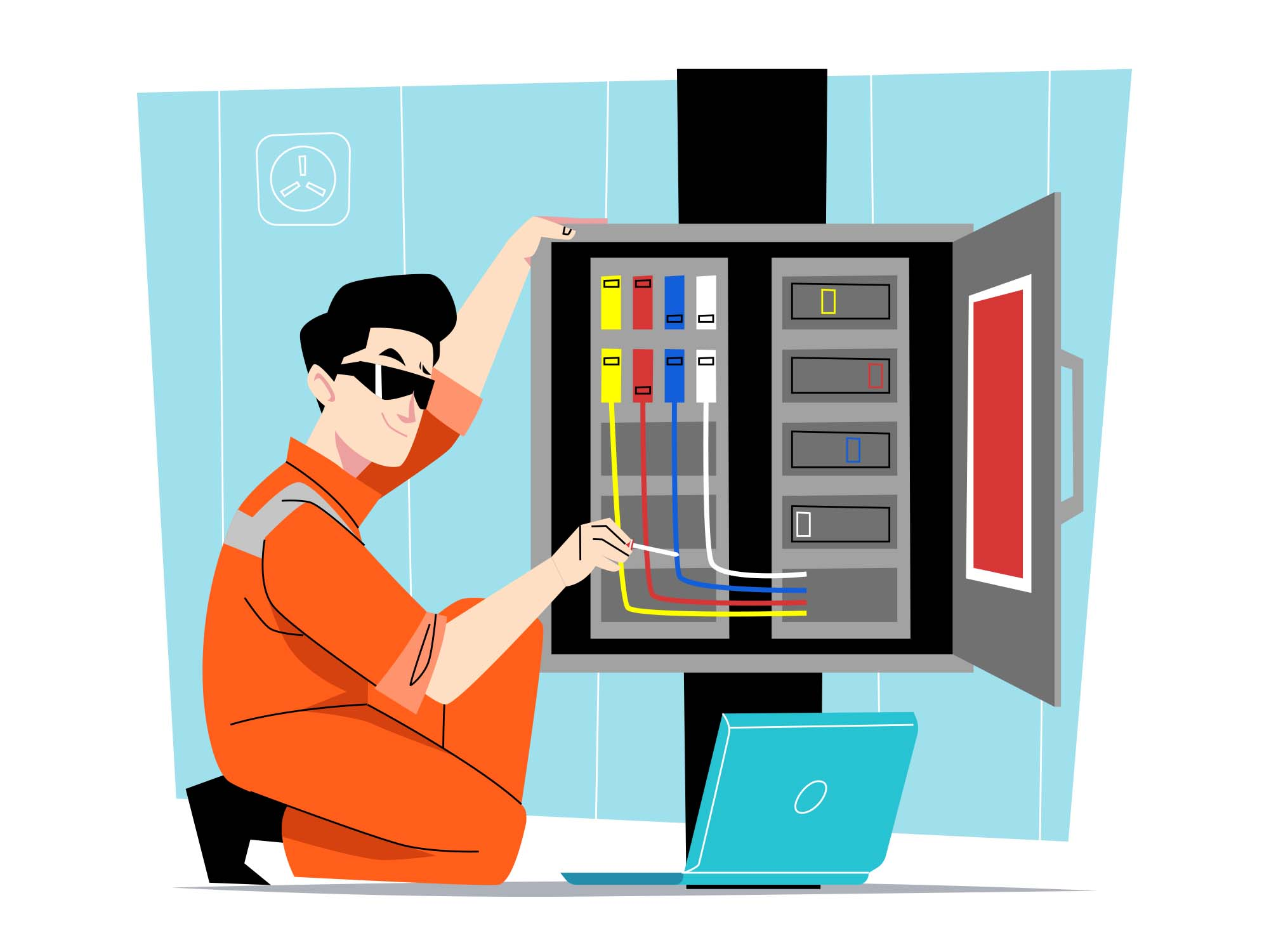 Electrical Technician Illustration