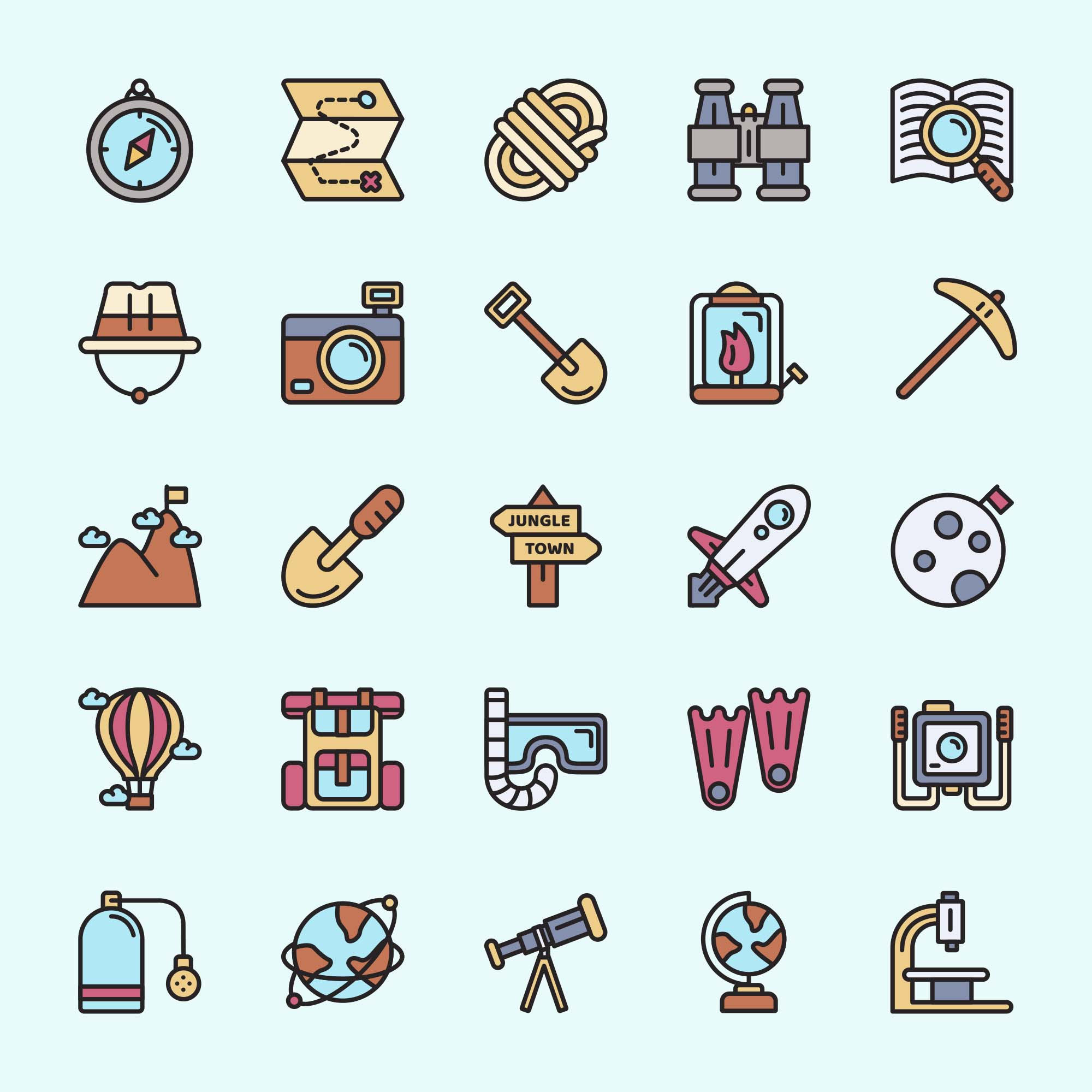 Exploration Vector Icons
