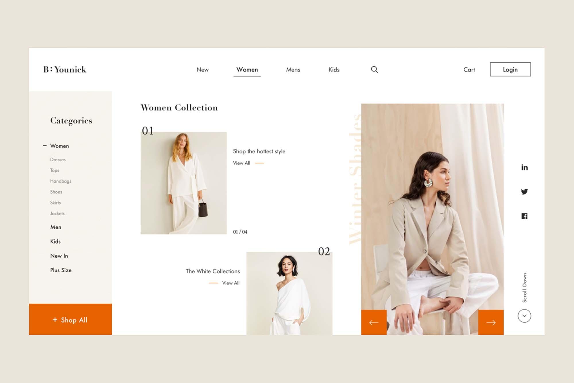 Fashion Web Design Template 2