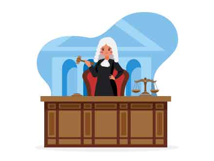 Female Judge Vector Illustration