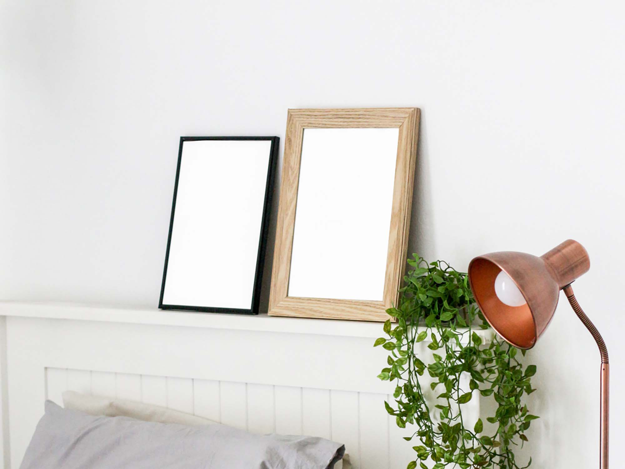 Frames in Bedroom Mockup 2