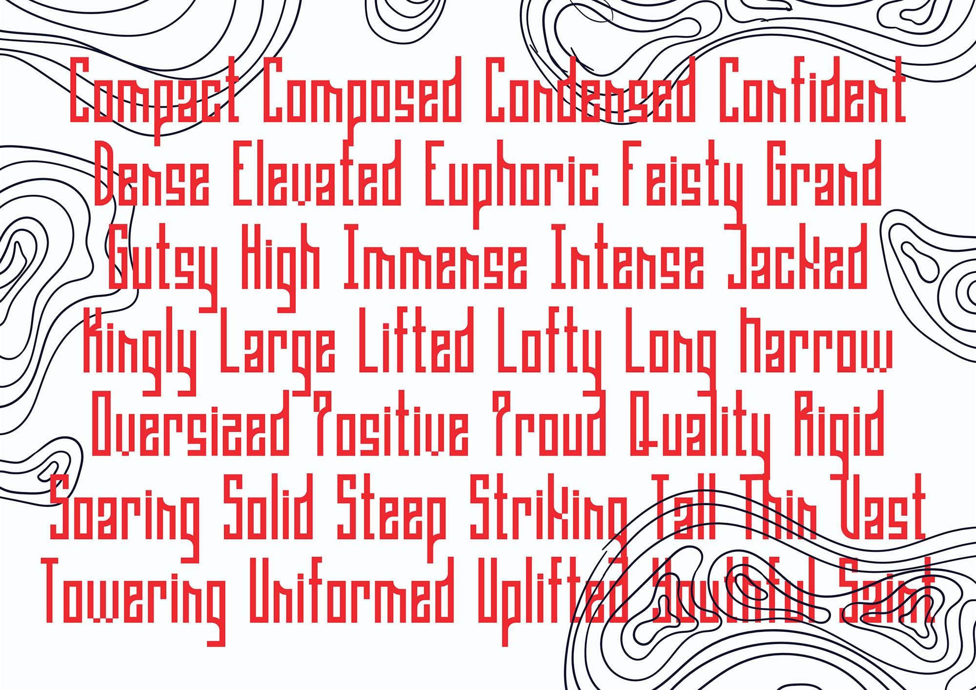 Gaia Condensed Font 8