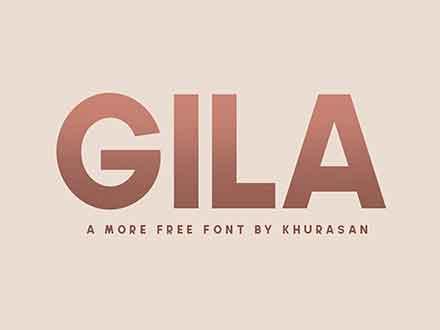 Gila Sans Serif Font