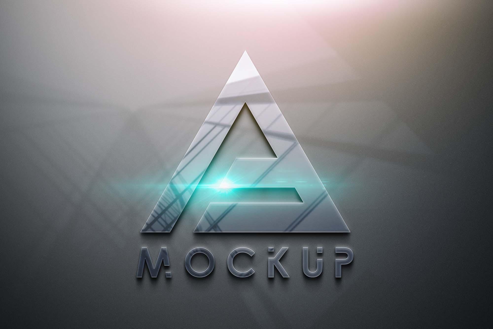 Glossy 3D Logo Mockup