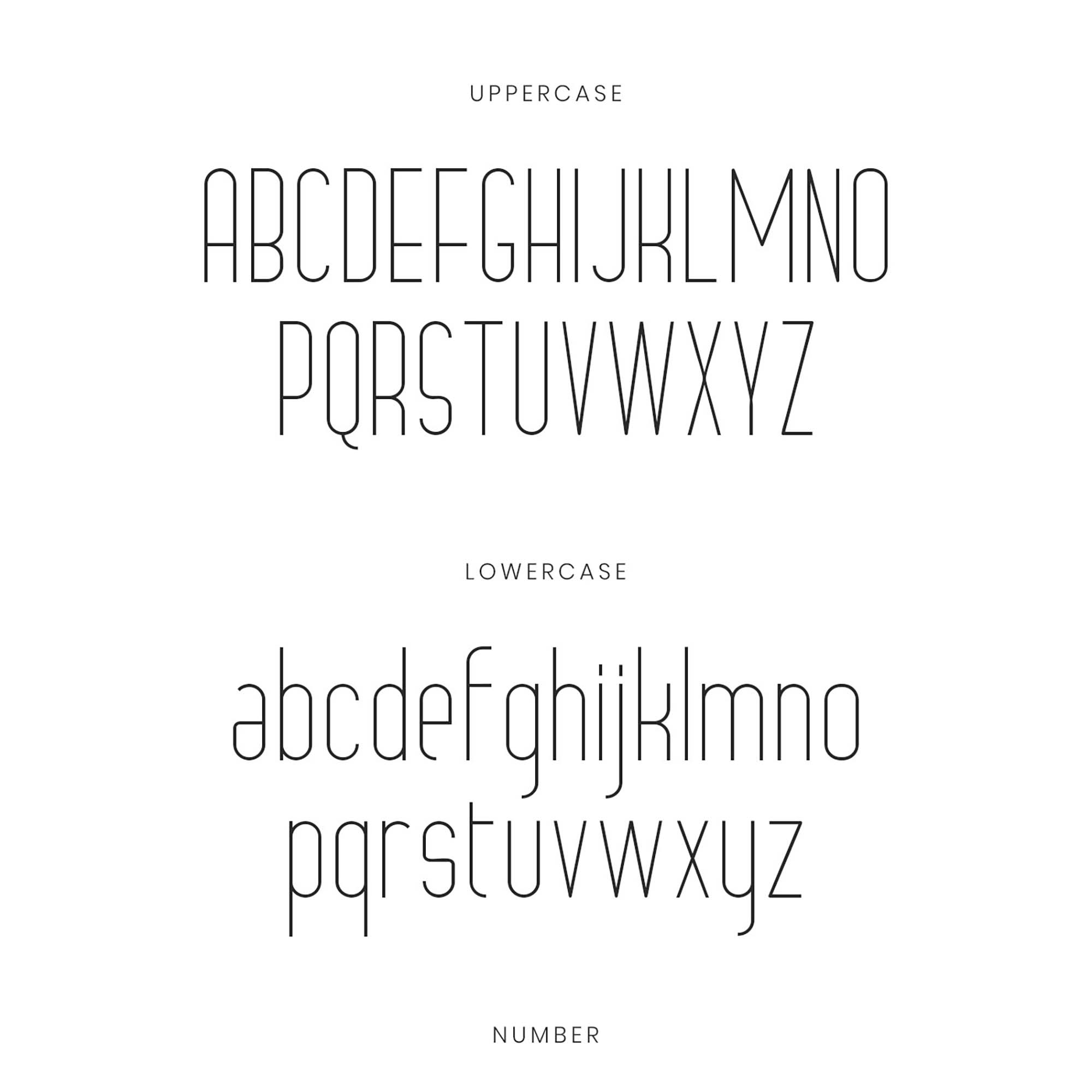 Grosella Monoline Typeface 1