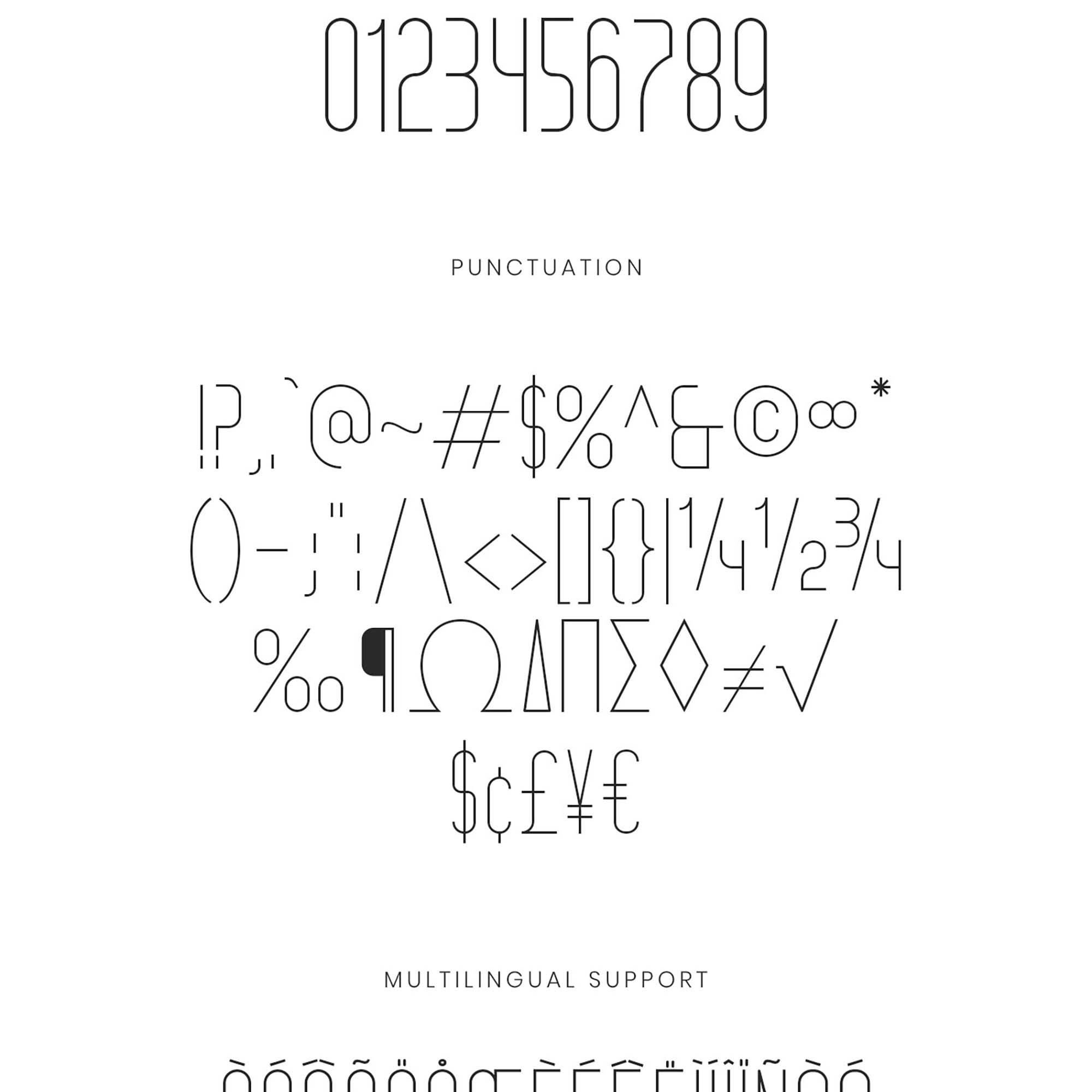 Grosella Monoline Typeface 2