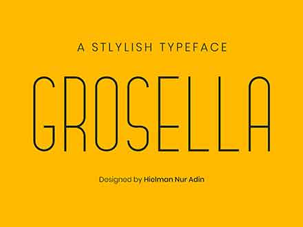 Grosella Monoline Typeface