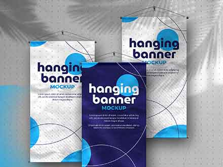 Hanging Banner Mockup