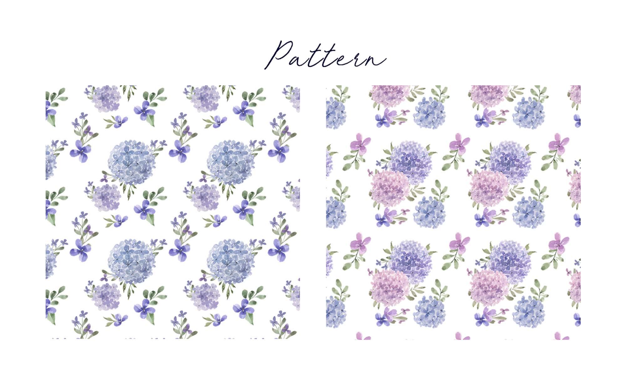 Hydrangea Watercolor Design Elements 5