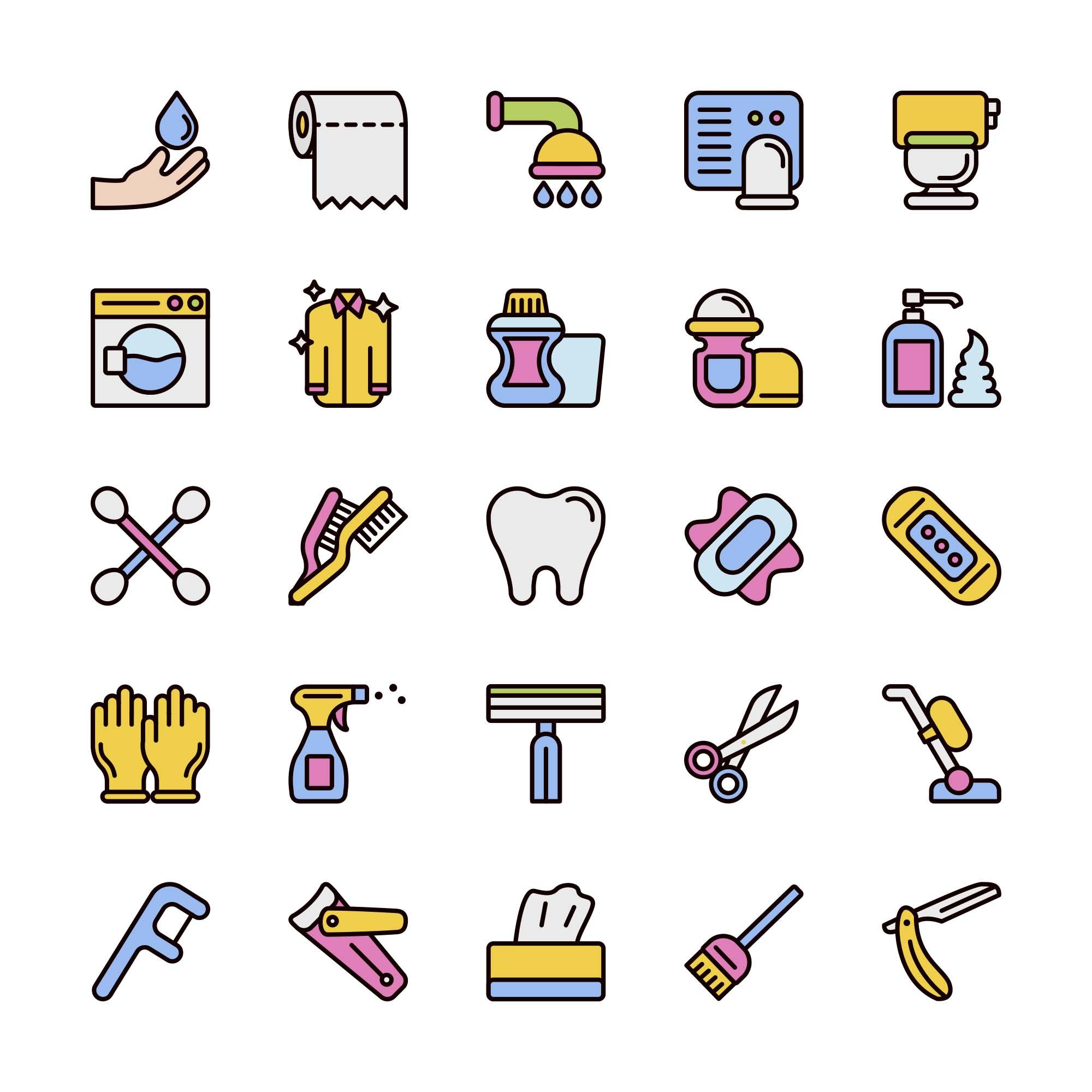 Hygiene Vector Icons