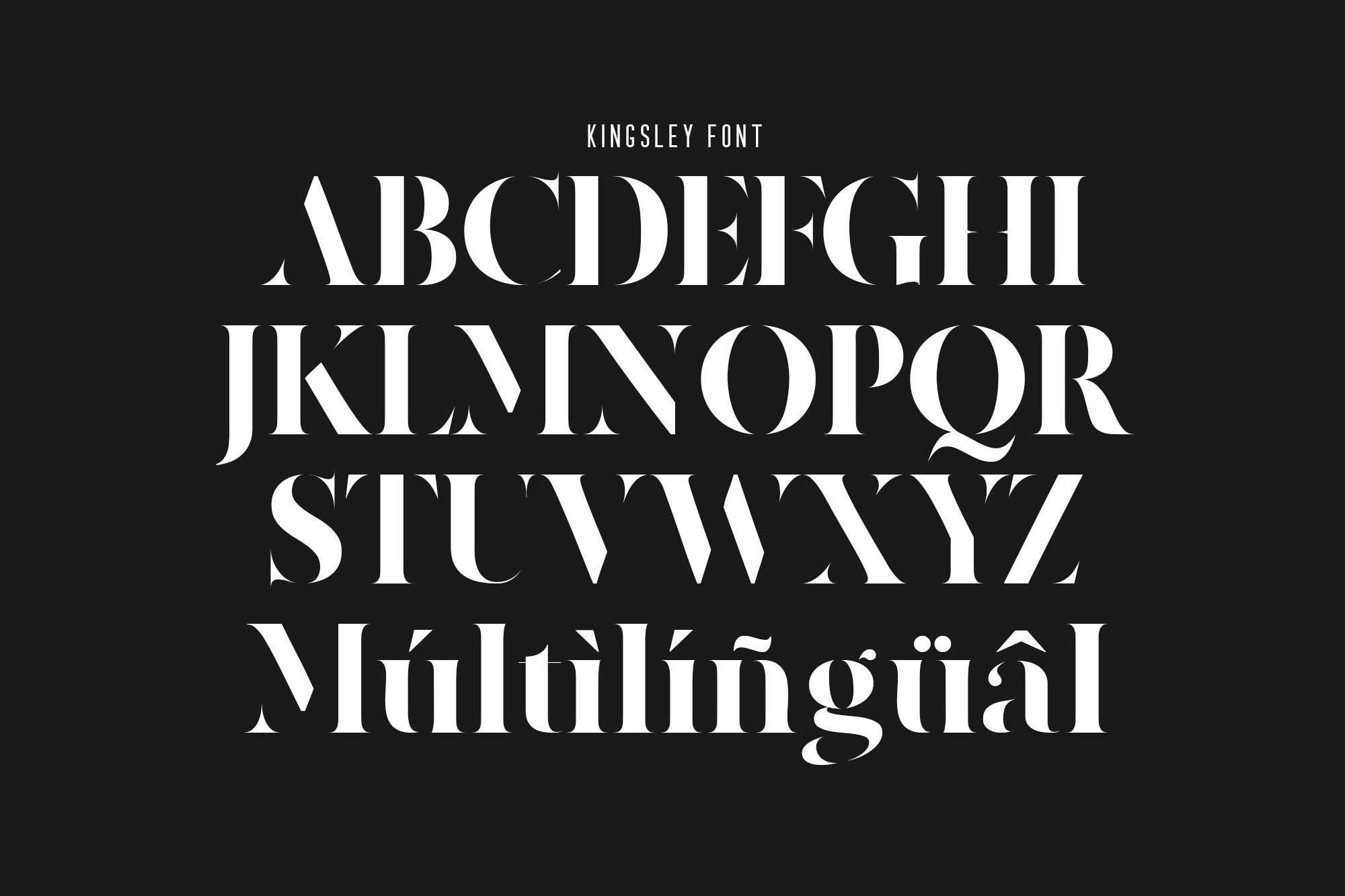 Kingsley Stencil Font 2