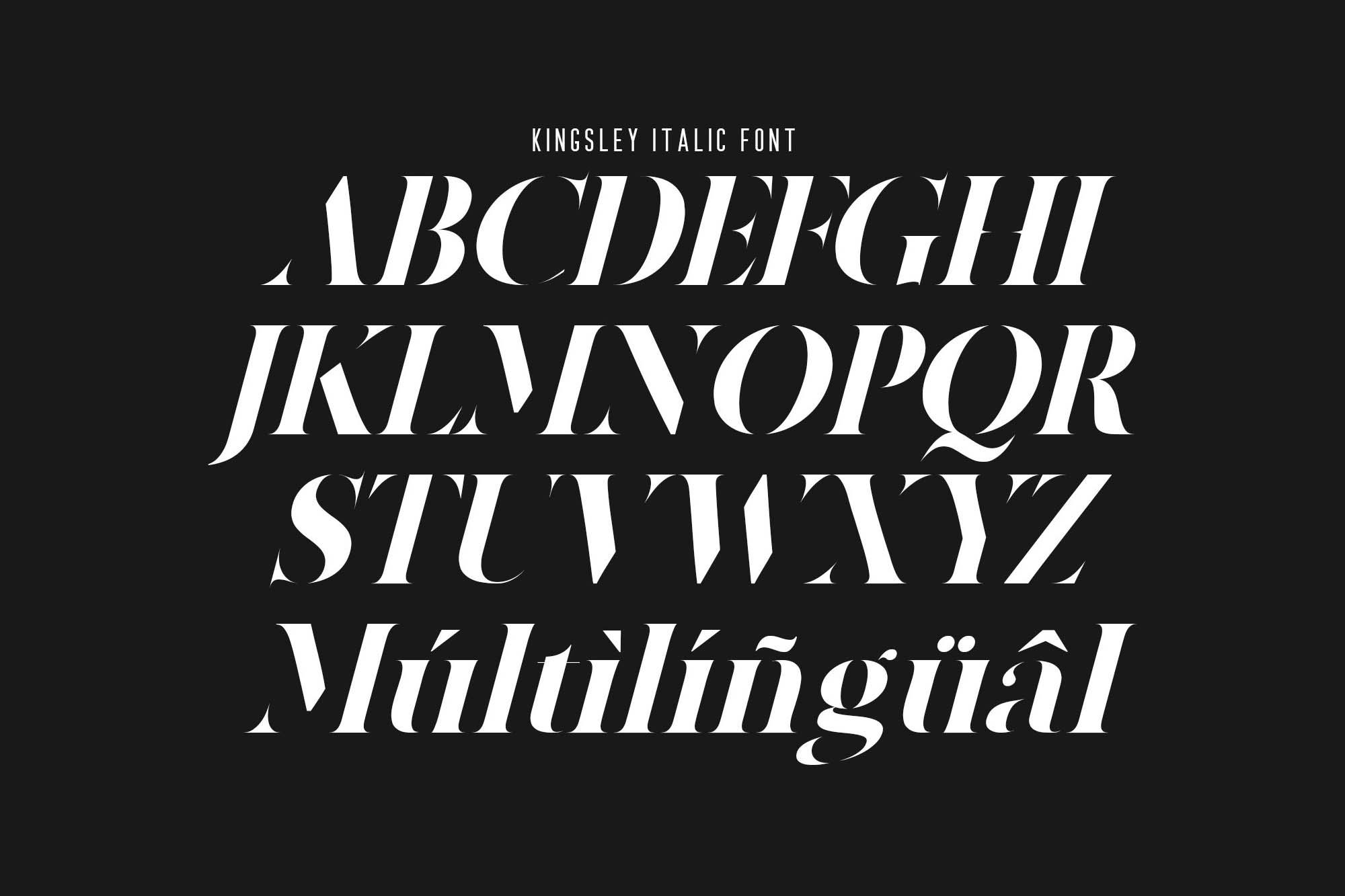 Kingsley Stencil Font 4