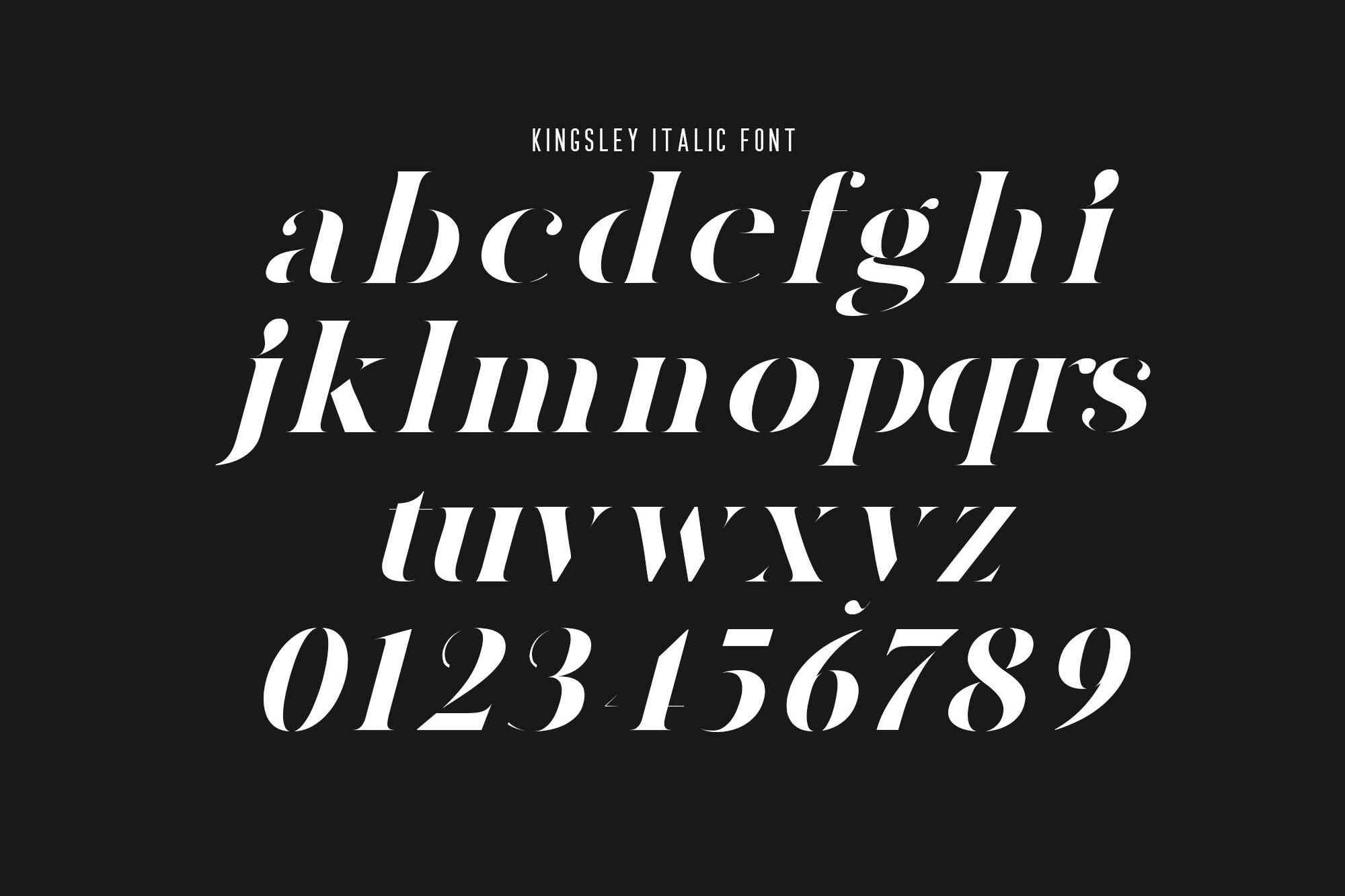 Kingsley Stencil Font 5