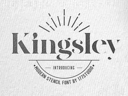 Kingsley Stencil Font