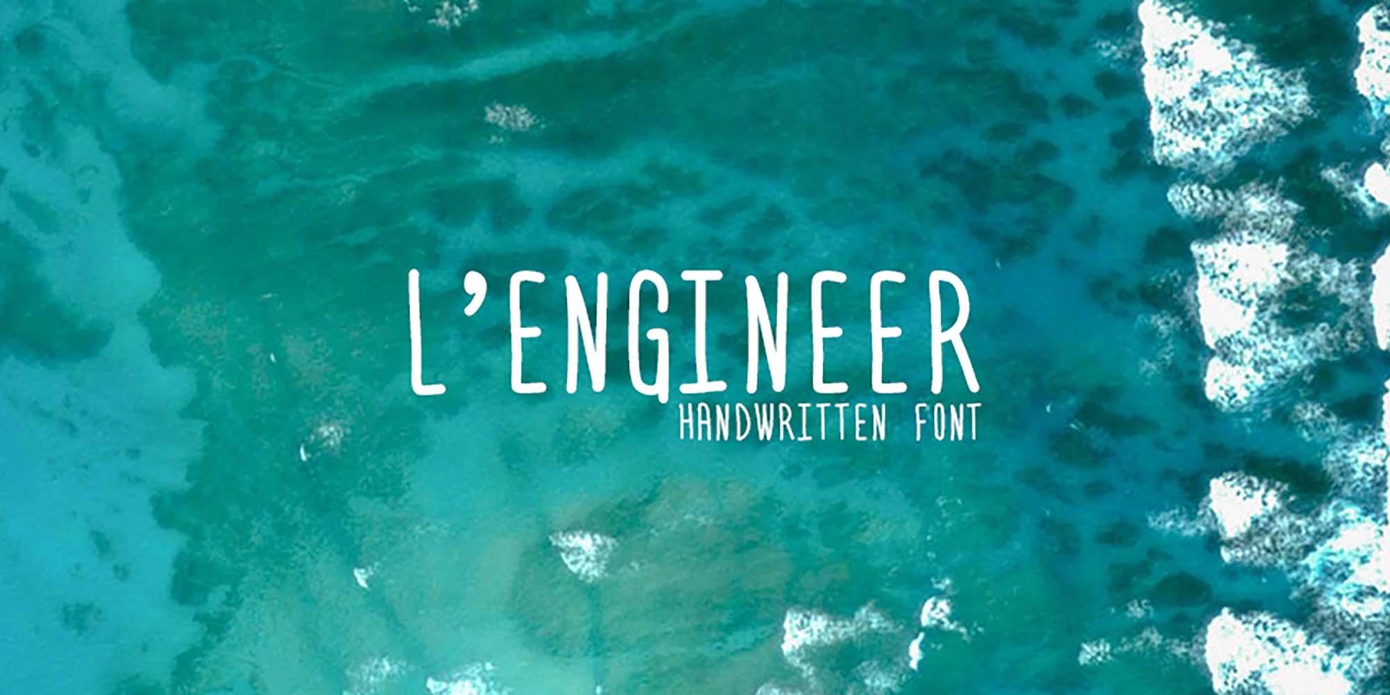L'Engineer Handwritten Font