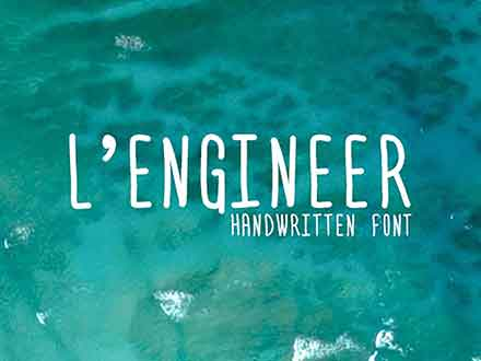 L'Engineer Handwritten Font