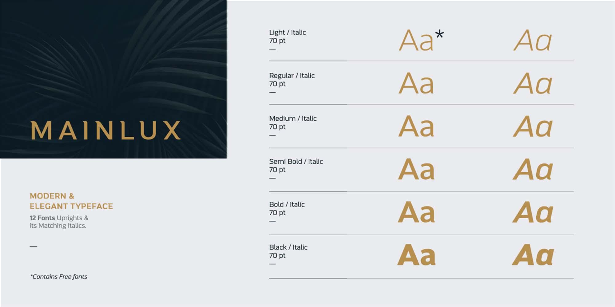 Mainlux Sans Serif Font 2