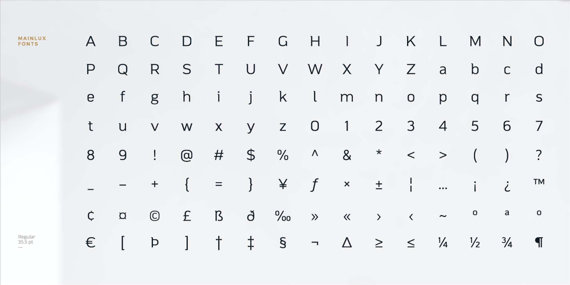 Mainlux Sans Serif Font 3