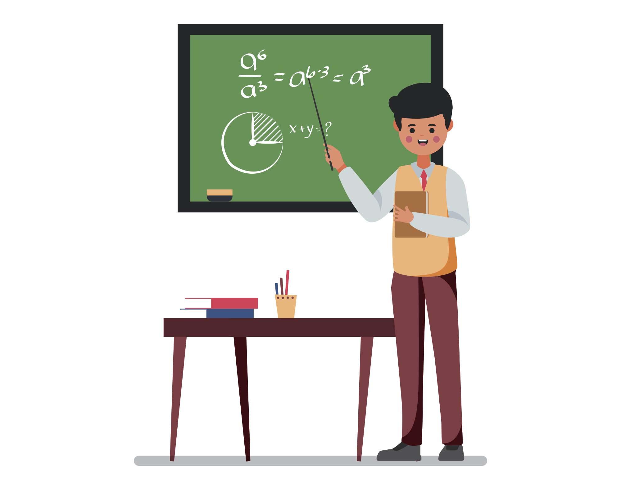 Free Male Teacher Vector Illustration (AI)
