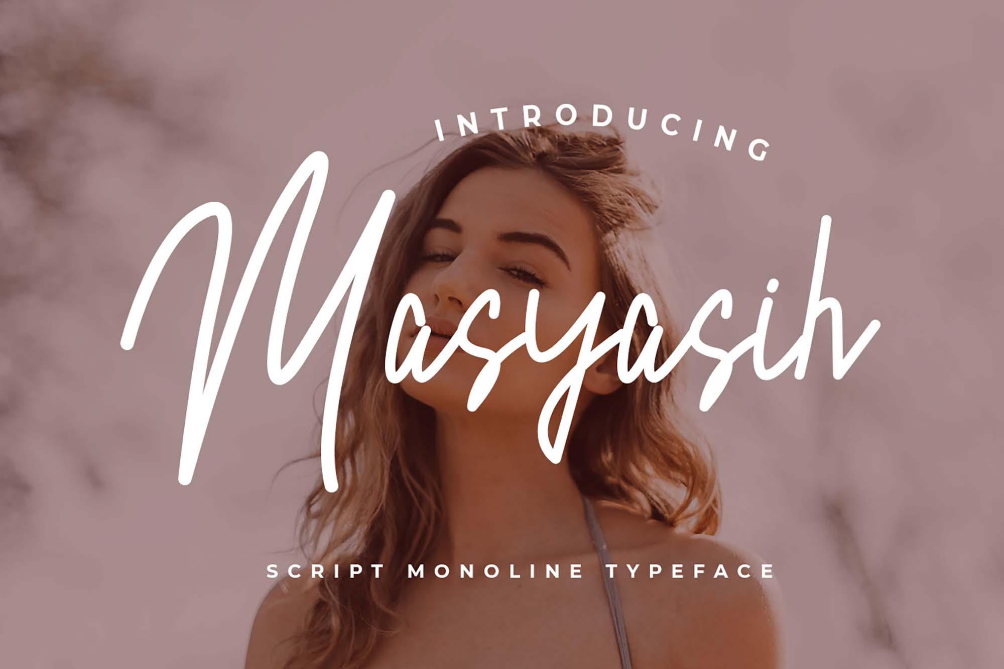 Masyasih Script Monoline Font