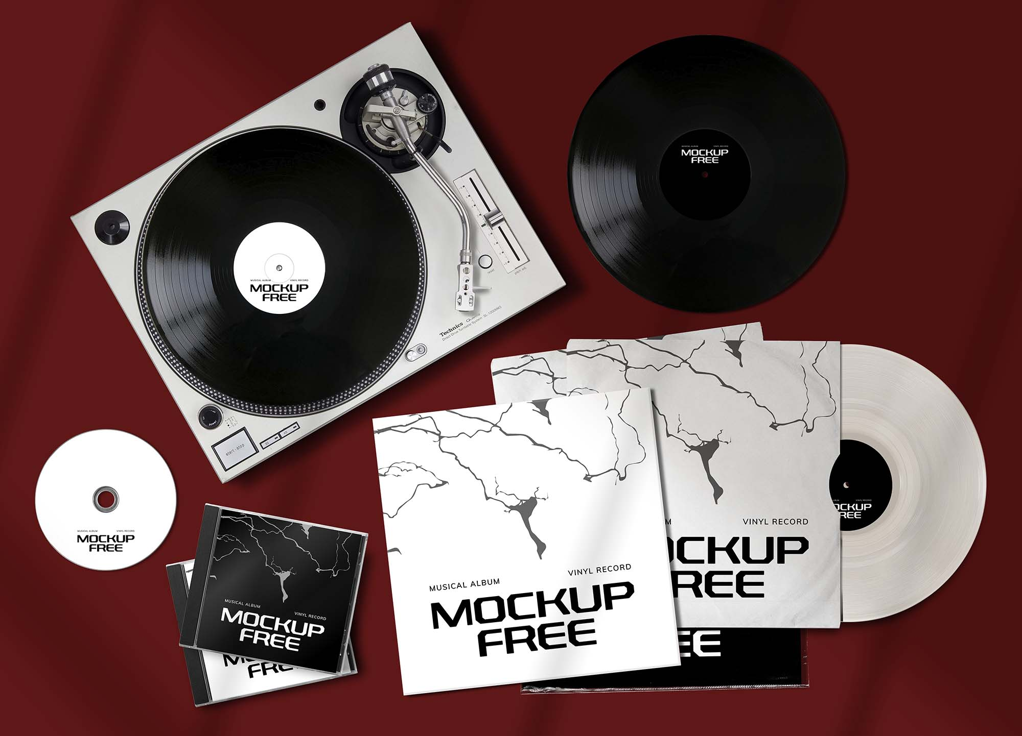 Musical Album Set Mockup