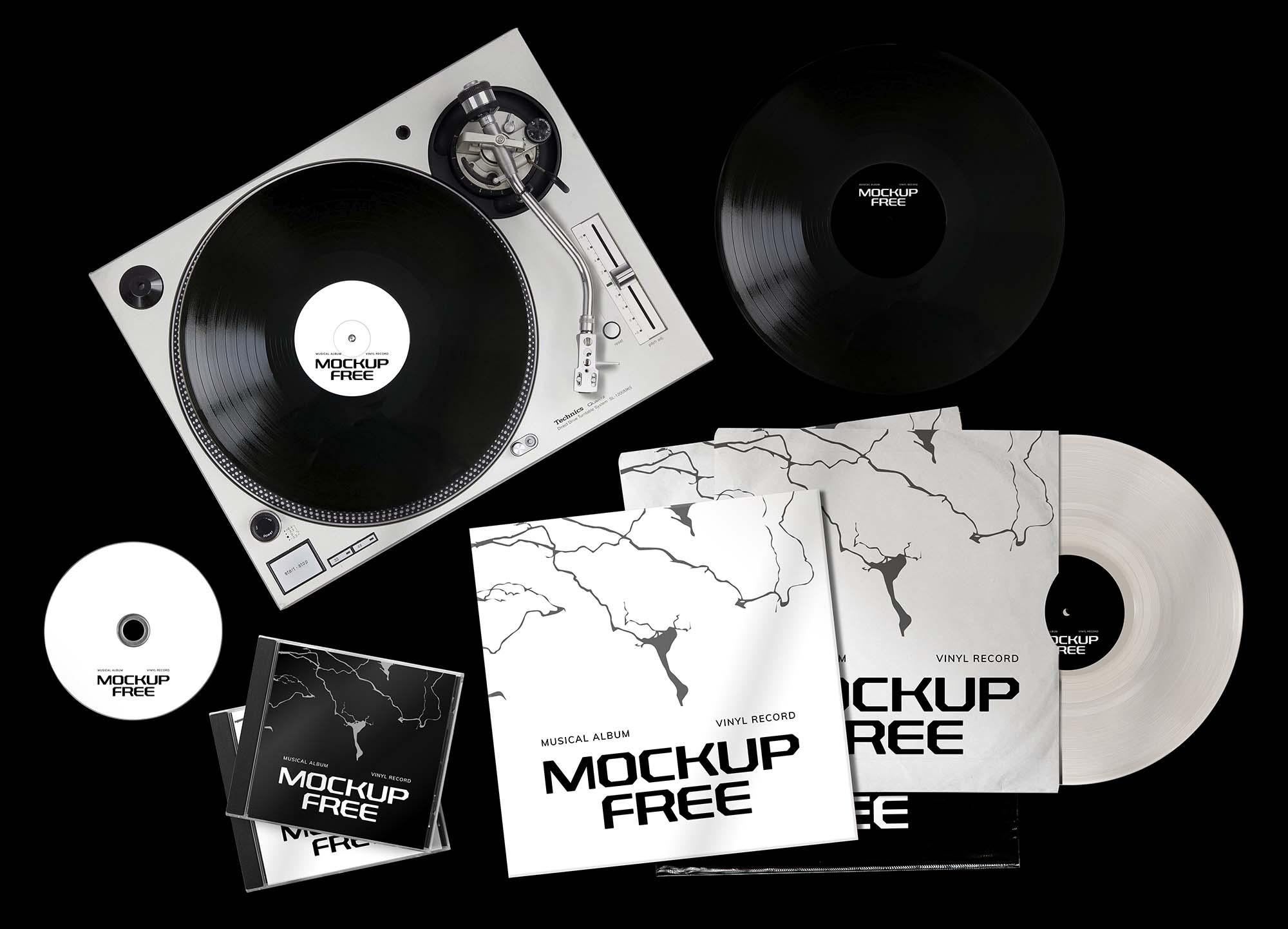 Musical Album Set Mockup 2