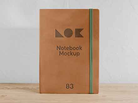 On Shelf Notebook Mockup