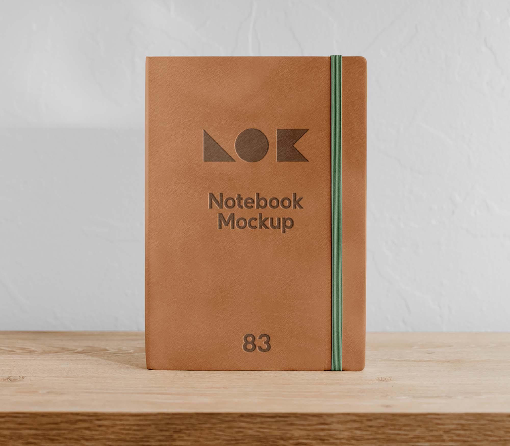 On Shelf Notebook Mockup