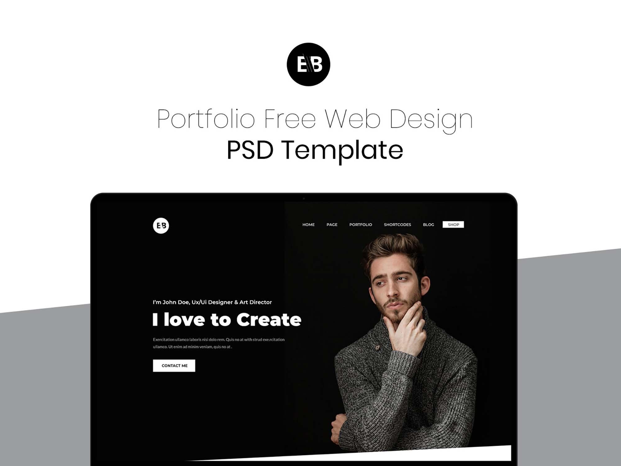 Portfolio Web Design Template 1