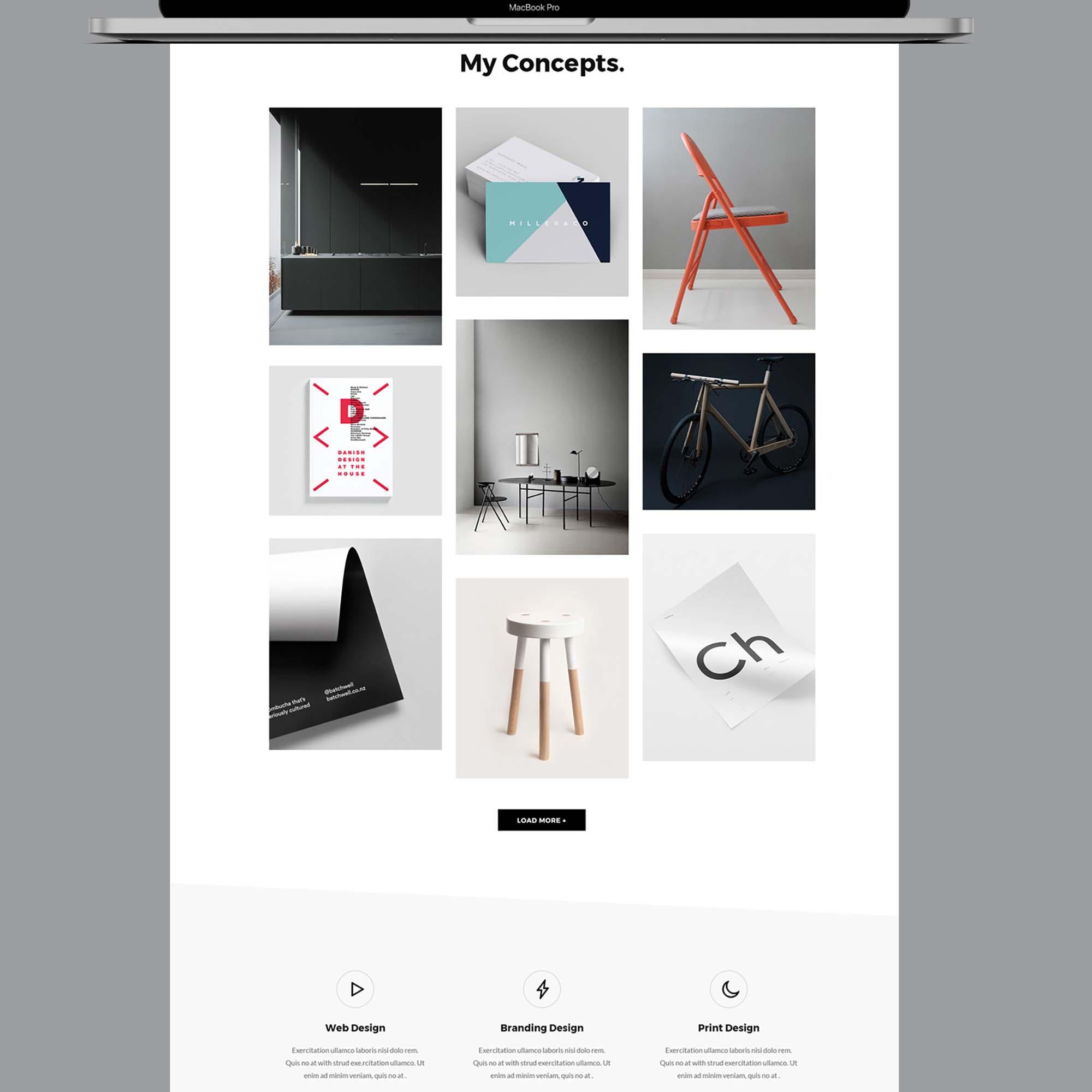 Portfolio Web Design Template 2
