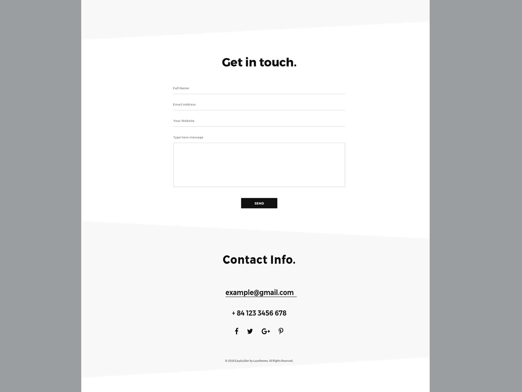 Portfolio Web Design Template 3