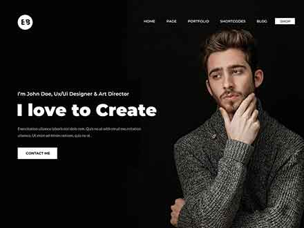 Portfolio Web Design Template