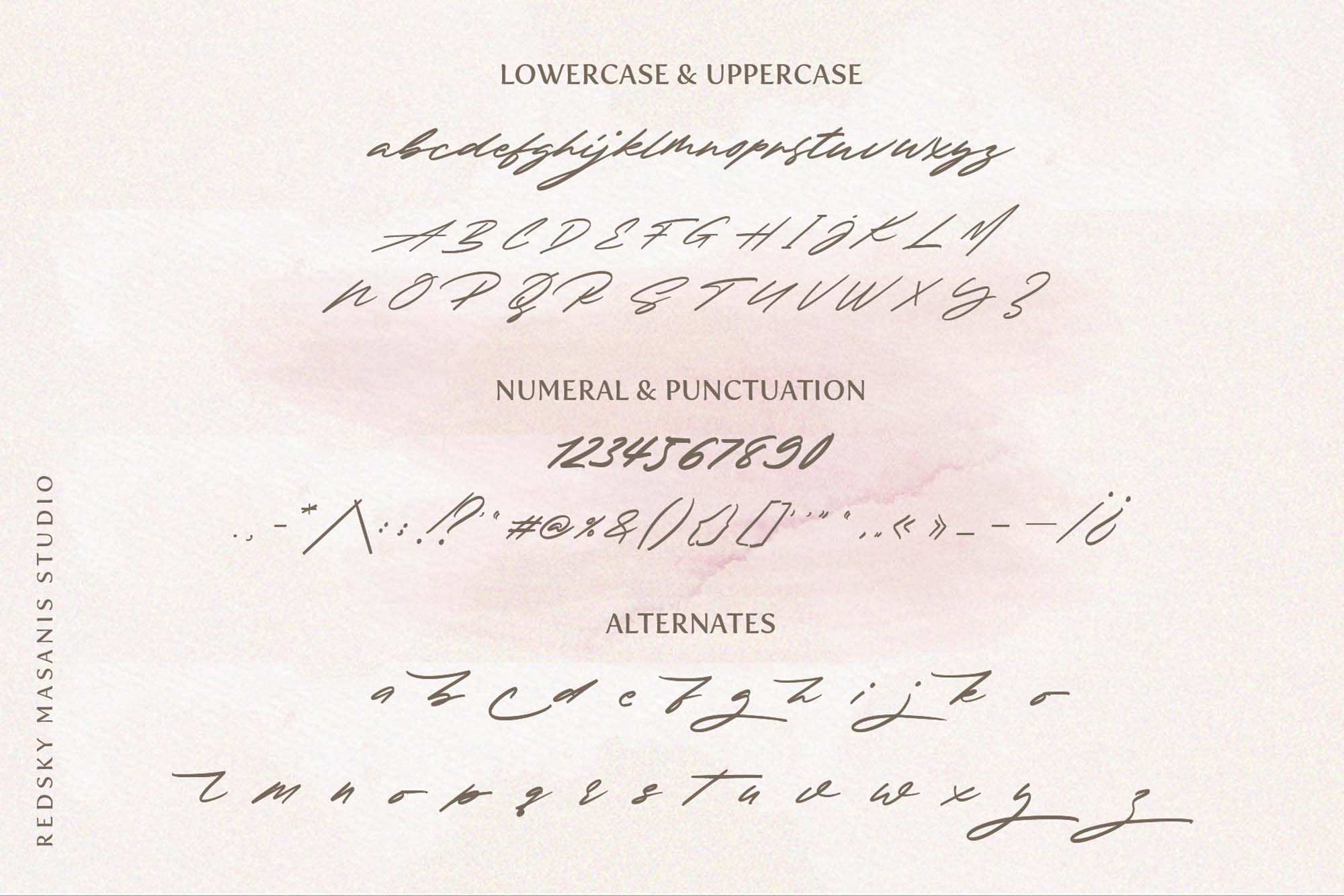 Redsky Signature Font 3
