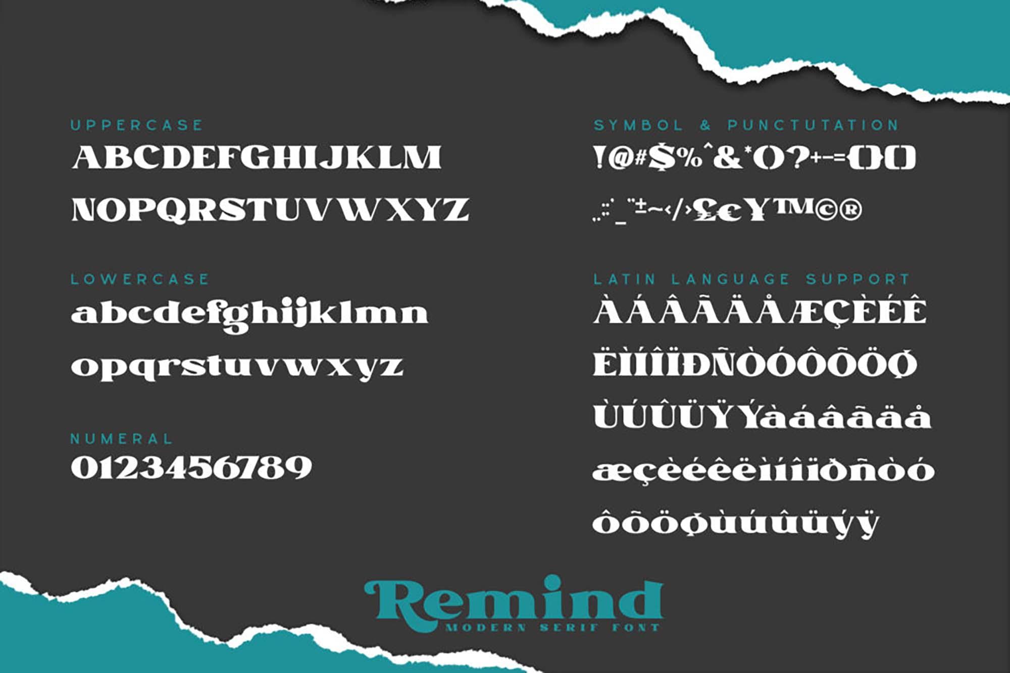 Remind Serif Font 7