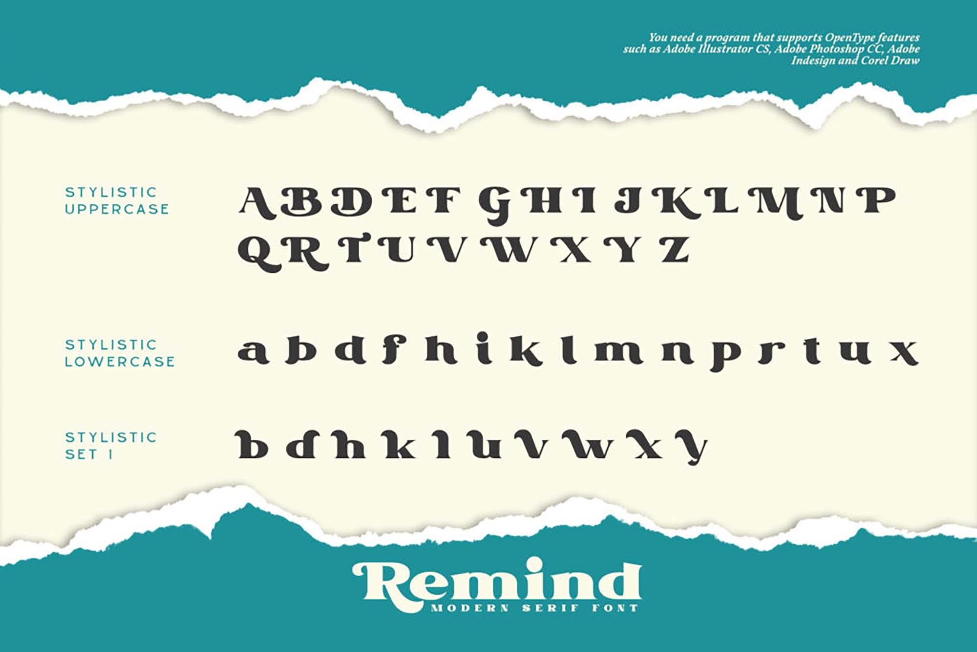 Remind Serif Font 8