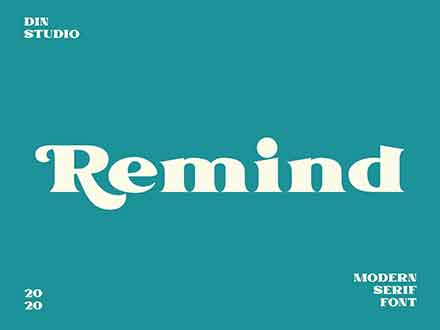 Remind Serif Font