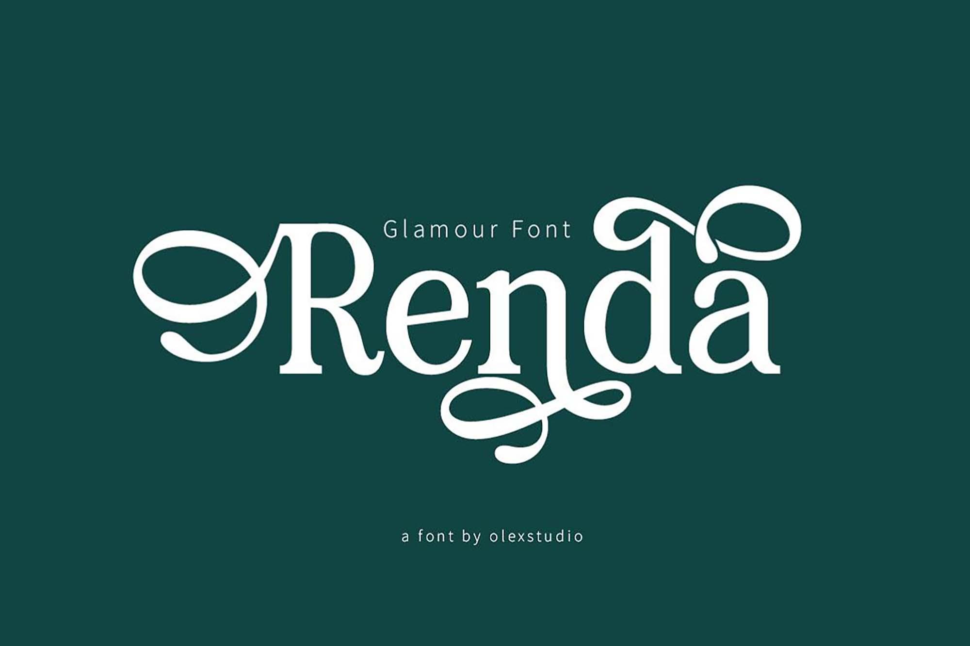 Renda Serif Font