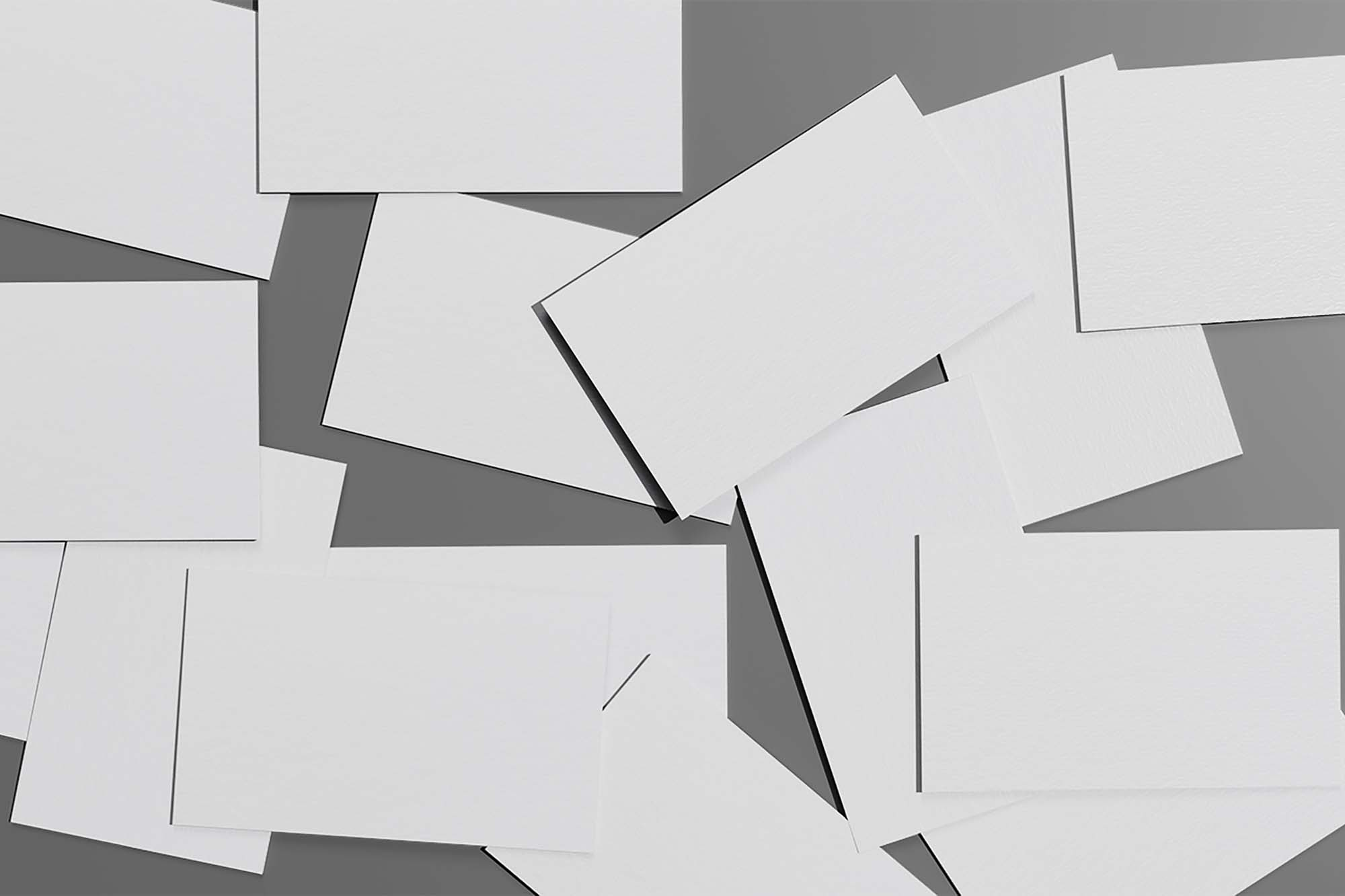 Scattered Business Cards Mockup 1