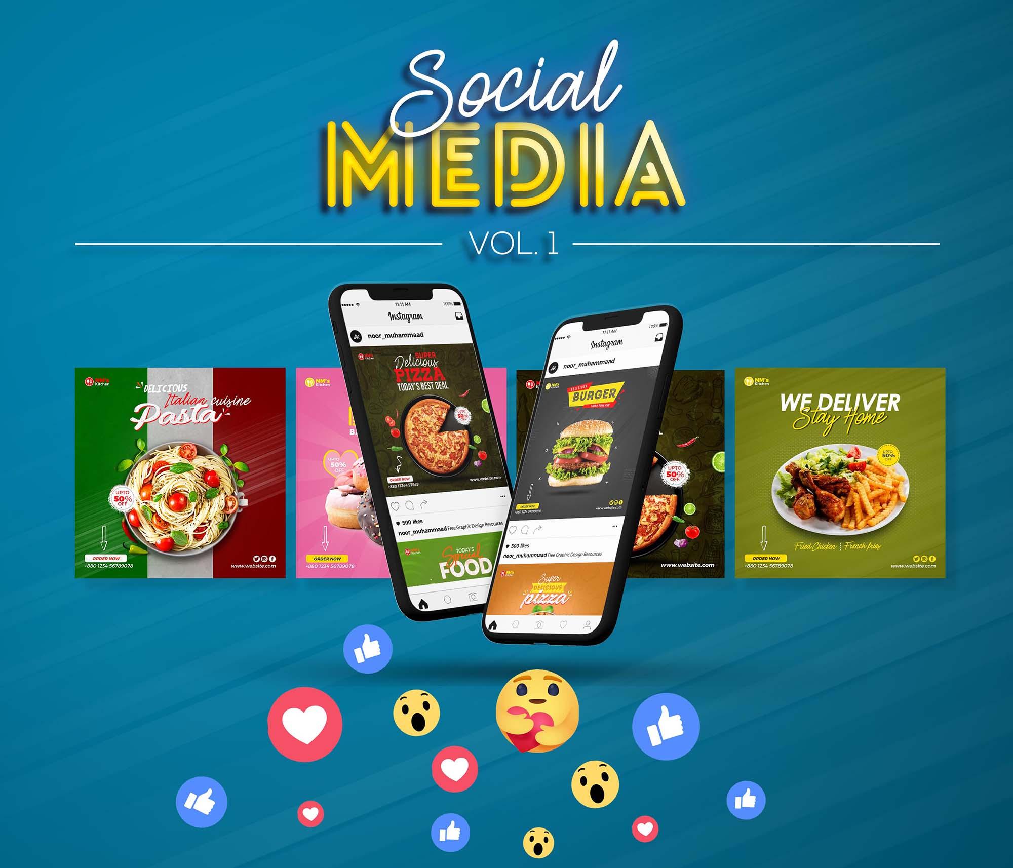 Social Media Food Banner Mockup
