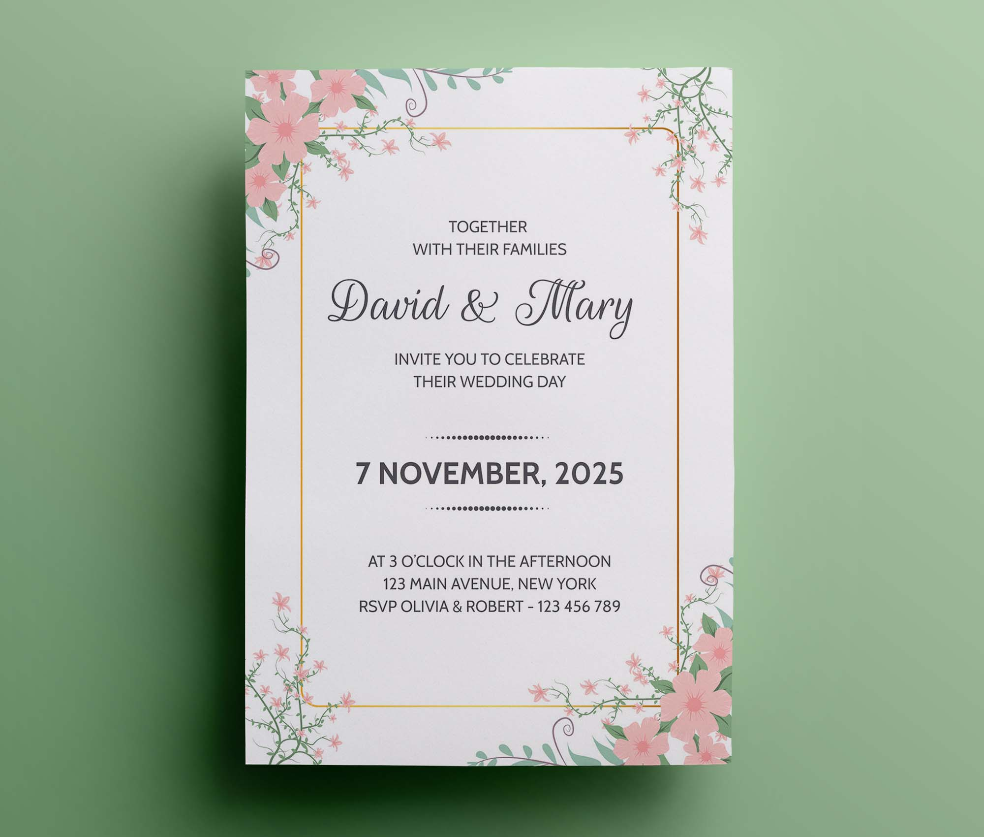 Wedding invitation Template 2