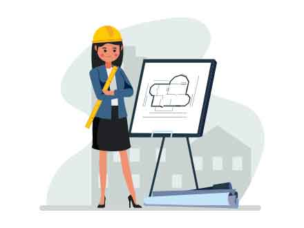 Women Architect Vector Illustration