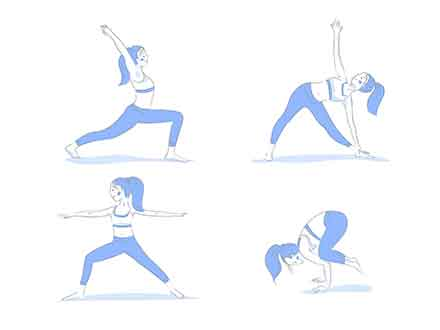 Yoga Poses Illustrations