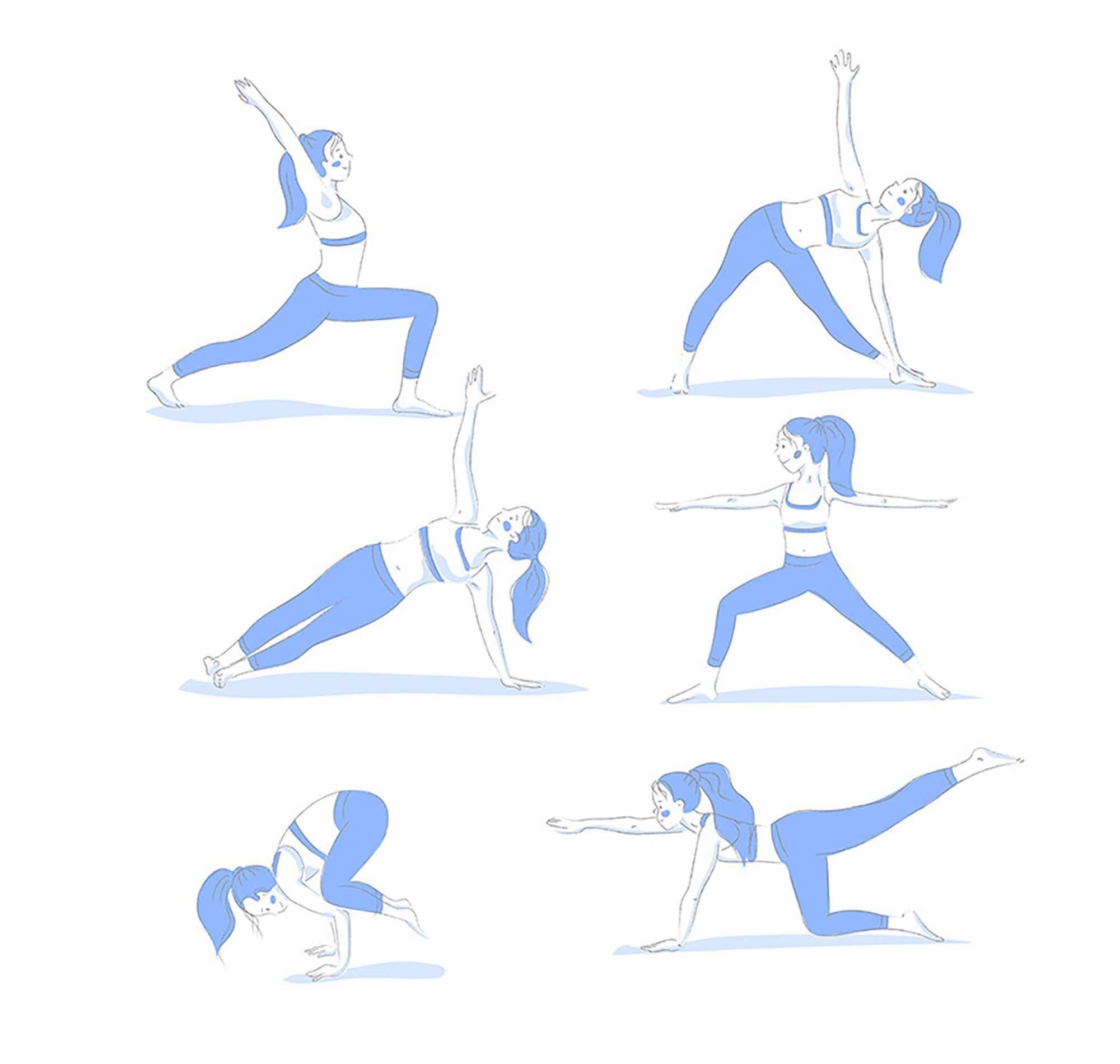 Yoga Poses Illustrations