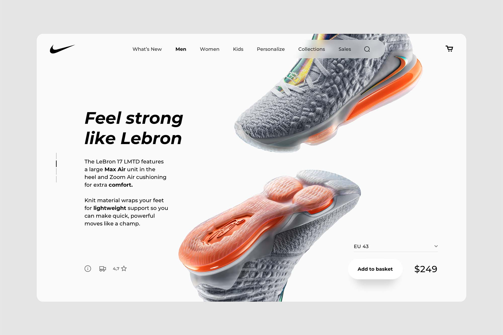 eCommerce Desktop Product Page Template